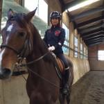 乗馬クラブの初級駈歩レッスン 茨城県稲敷市 Hさん