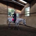 乗馬クラブの初級駈歩レッスン 茨城県つくば市 Sさん