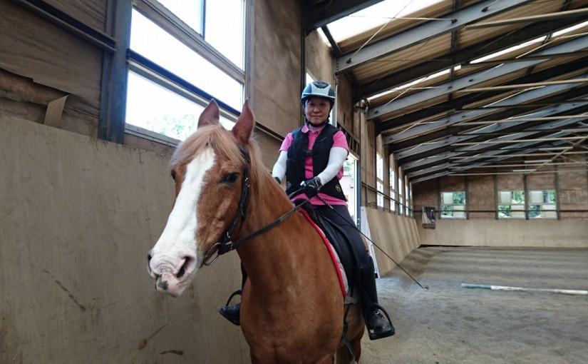乗馬クラブで久しぶりの騎乗をされました! 茨城県牛久市 Tさん