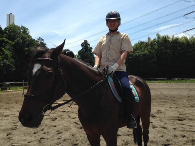乗馬クラブで久しぶりにレッスンを受講しました。 茨城県水戸市 Hさん