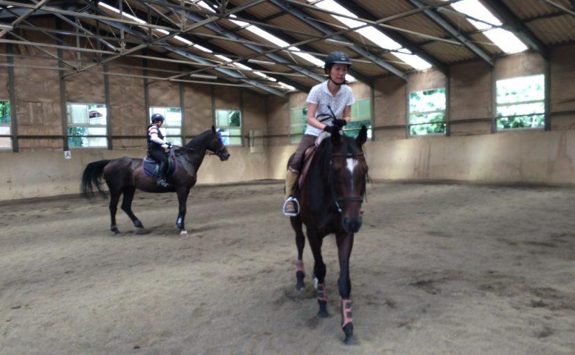 乗馬クラブで初級レッスンを受講しました。 茨城県つくば市 Oさん
