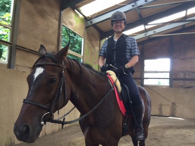 乗馬クラブで馬場鞍に初騎乗しました! 茨城県土浦市 Nさん