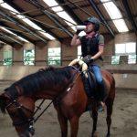 乗馬クラブではレッスン中も熱中症対策!水分補給! 茨城県龍ヶ崎市 Uさん