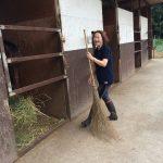 乗馬クラブでお手伝いをしました。 茨城県水戸市 Tさん