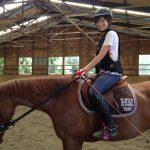 乗馬クラブでインドアでレッスンを受講しました。 茨城県龍ヶ崎市 Kさん
